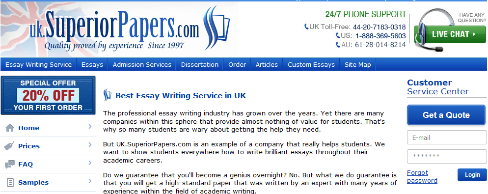 Top Rated Writing Services in the UK